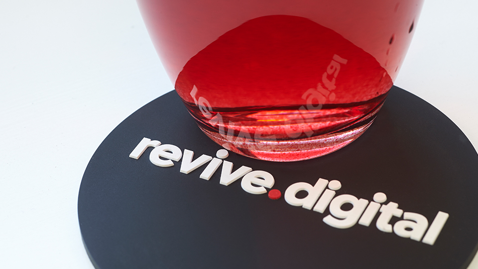 Revive Digital Logo Coaster