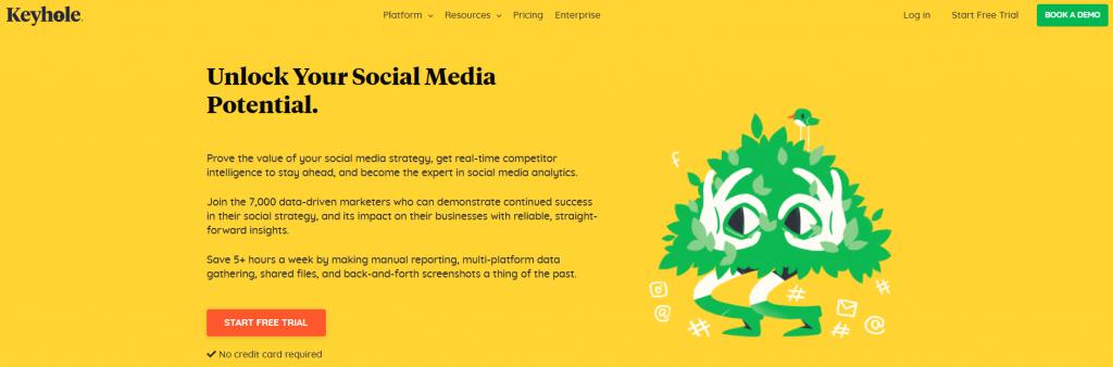 Keyhole social media tool
