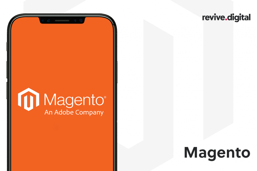 magento logo in a mobile phone