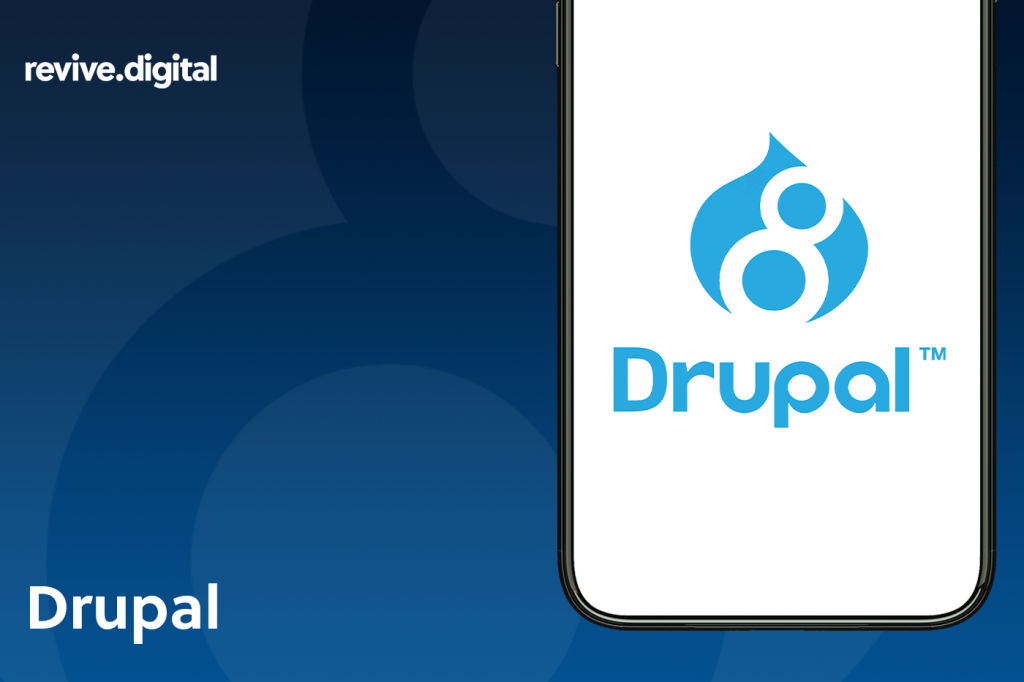drupal logo in a mobile phone