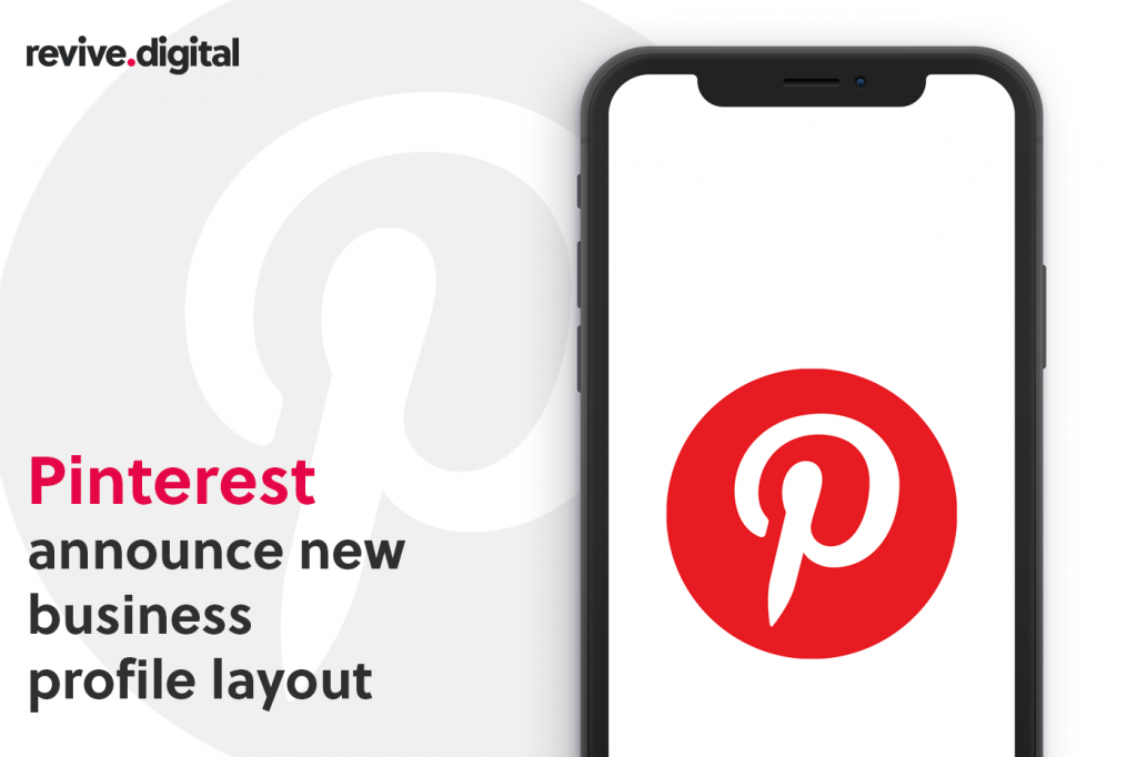 Pinterest logo in a mobile phone
