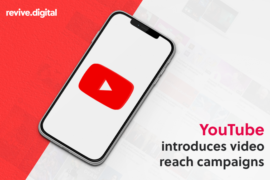 mobile phone with youtube logo in the screen