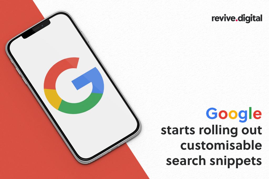 Google customisable search snippets