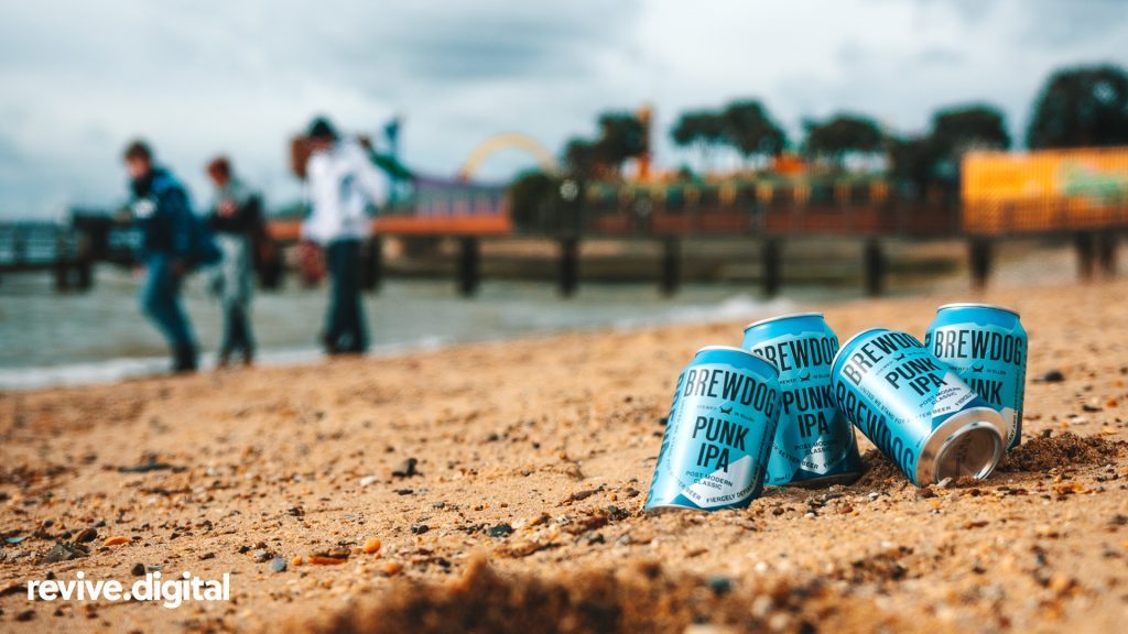 brewdog beer can beach