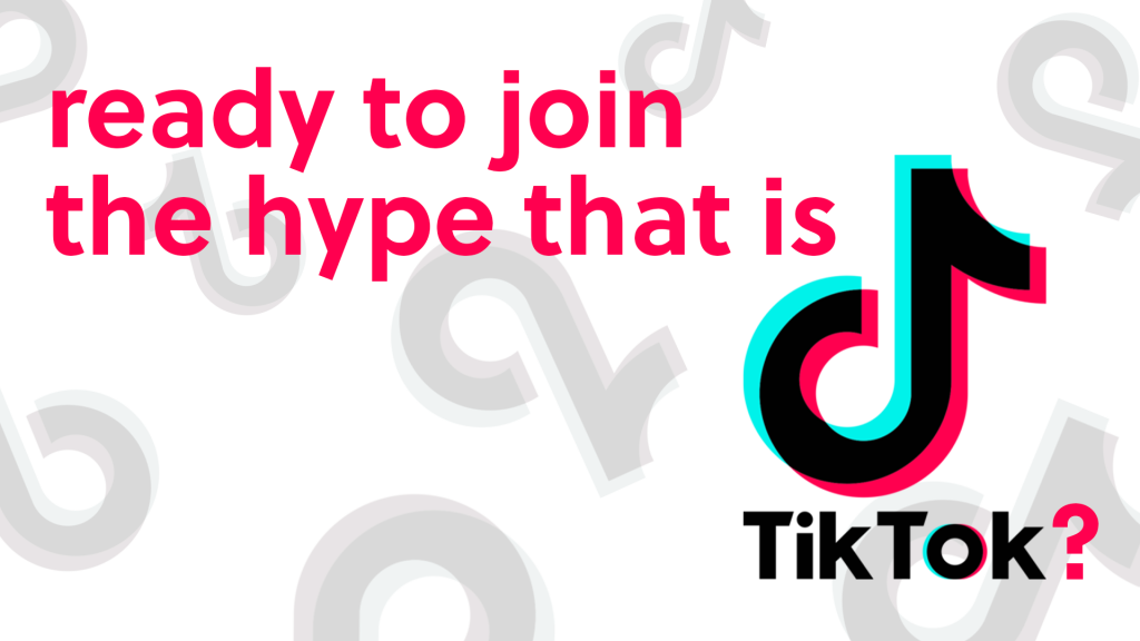 ready to join the hype that is tiktok text in the image