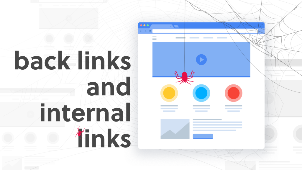graphic of search engine optimisation backlinks and internal links