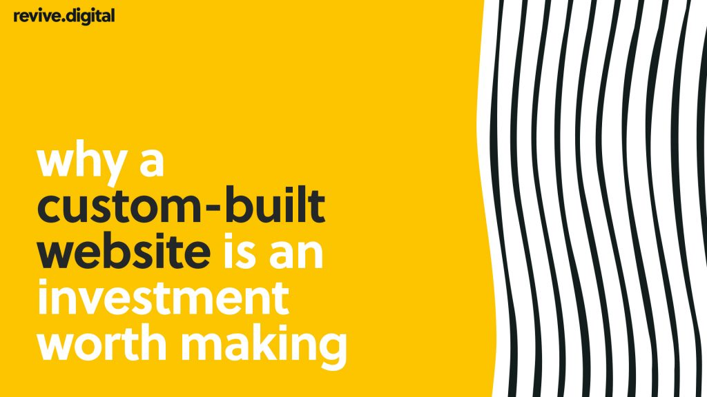 custom built website investment