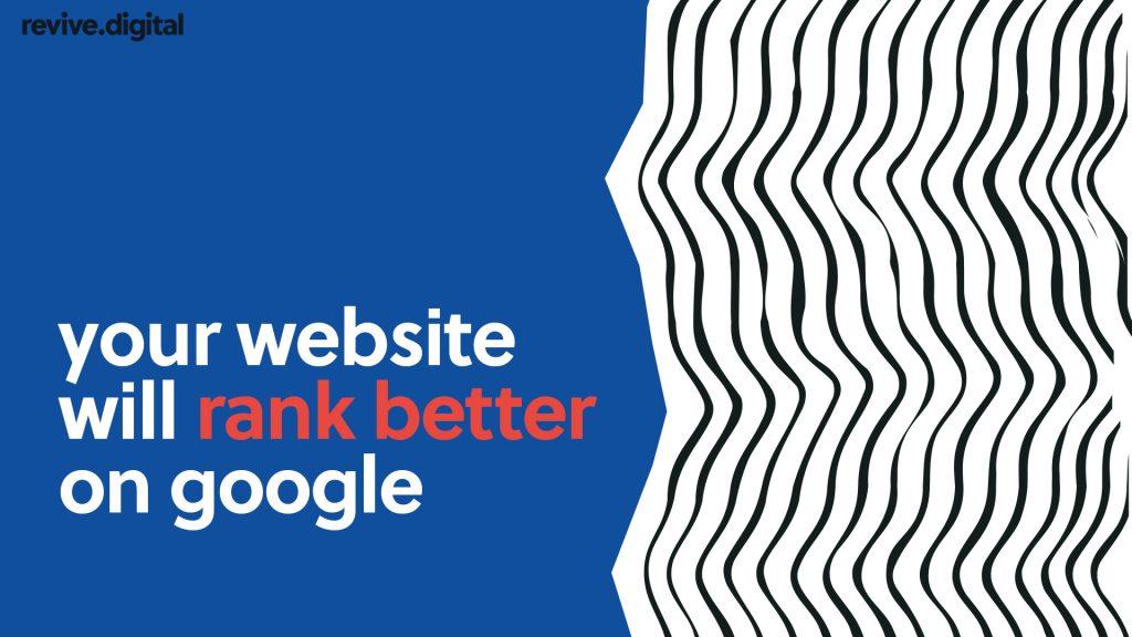 custom built website rank in serps