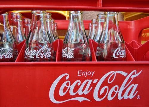 Coke Bottles in its case