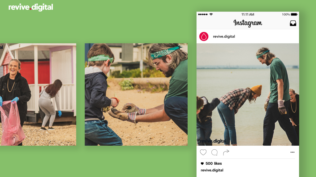 revive team post in instagram cleaning in southend beach