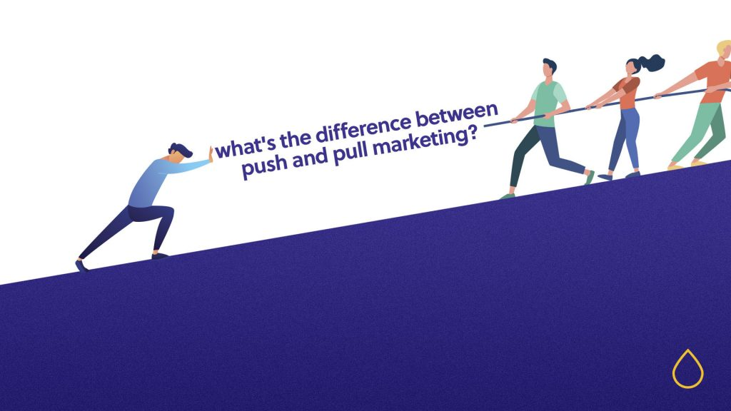 what is the difference between push and pull marketing