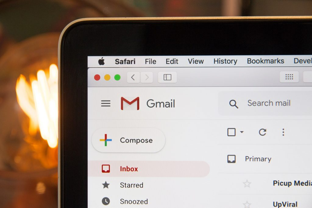 The humble email newsletter on Gmail screen