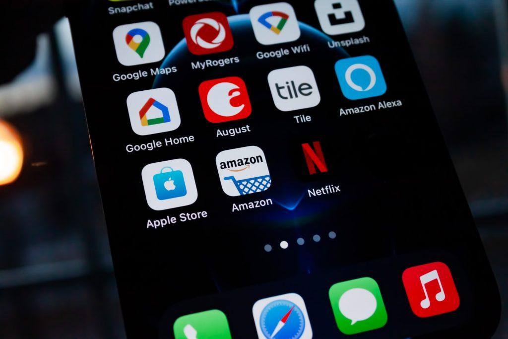 Amazon app on mobile phone